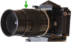 Source: http://commons.wikimedia.org/wiki/File:Nikon_F_with_105_mm_Micro_Nikkor.jpg